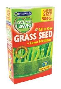Chatsworth All In One Grass Lawn Seed & Fertiliser 600g £1 @ Poundland