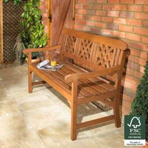 FSC® 3-Seater Fence Bench was £99.99 now £74.99 + FREE DELIVERY @ Robert Dyas