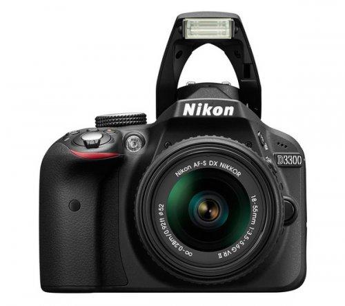 NIKON D3300 DSLR Camera with 18 - 55 mm VR II Zoom Lens @ Currys £348 plus £30 Nikon cashback = £318
