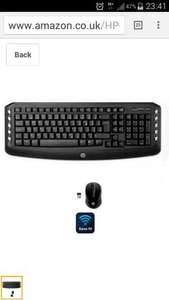 HP wireless keyboard & mouse (garfield ) £10.50 @ Sainsburys instore
