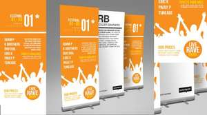 Professional Roller banner for £26.10 + delivery (£31.09) @ Instantprint