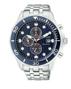 Citizen Men's Eco-Drive Blue Dial Chronograph Watch £99.99 @ Argos