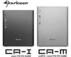Sharkoon CA-M Micro-ATX/Mini-ITX Compatible £32 or Sharkoon CA-I Mini ITX Case £29 (colours black or silver) @ amazon (check links in comments)