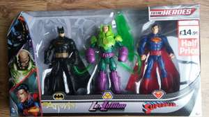 DC Comic Heroes HALF price £14.99 reduced from £29.99 Lorimers Nationwide
