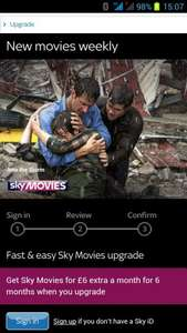 Get Sky Movies for £6 extra a month for 6 months when you upgrade - £36