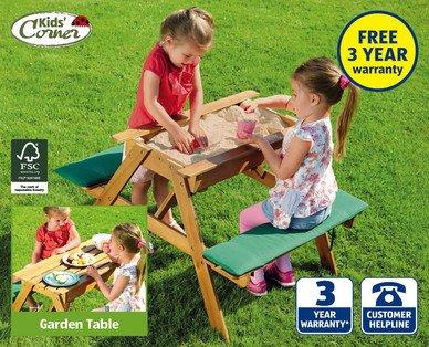Children's Garden Table with Sandpit £39.99 @ Aldi.