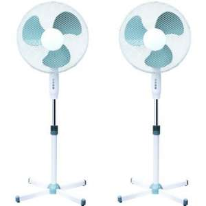 "Amazon Double 16"" OSCILLATING PEDESTAL AIR COOLING ELECTRIC FAN EXTENDABLE ADJUSTABLE STAND £25.98  sold by Oypla."