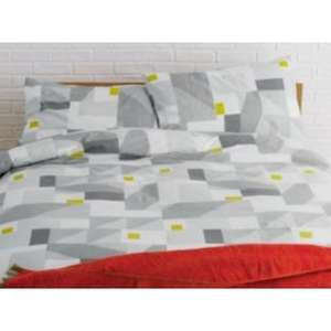 Habitat Rukin Grey Geometric Double Duvet Set £12 from Argos WAS £40