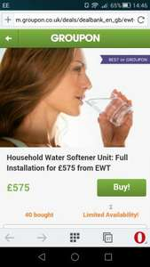 Household Water Softener including installation £575 @ EWT / Groupon