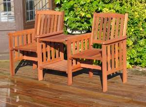 Kingfisher Hardwood Garden Love Seat £59.99 delivered @ JTF Ebay Outlet
