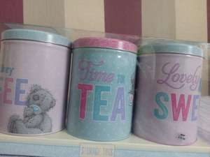 Me to You tea and coffee, sugar tins set £2.99 @ Home Bargains