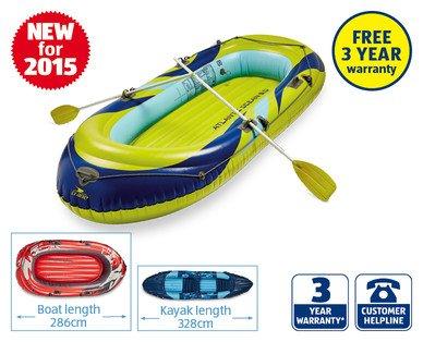 328cm Inflatable Kayak/Boat £39.99 at ALDI