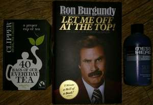 Ron Burgundy Let Me Off At The Top! Hardback Cover Book £1 At Poundland
