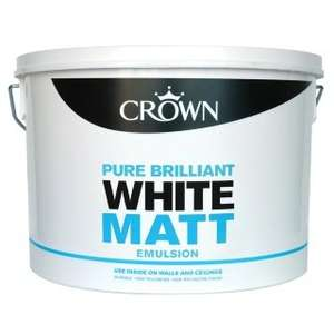 Crown 10L Pure Brilliant White Matt Emulsion £3 at B&M