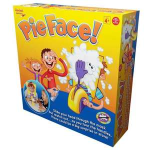 Now Back in stock * 462 available at time of postin * Pie Face Game Back in Stock £15 at Wilkinsons