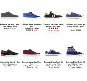 VANS & CONVERSE from £14.99 + £5 p&p - £19.99 @ FOOTLOCKER!!