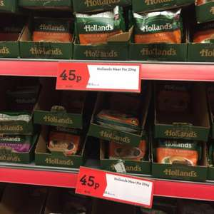 Hollands Pies - all varieties - 45p at Morrisons