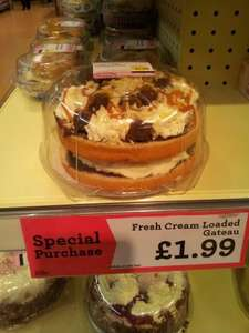 Morrisons Fresh Cream Loaded Gateau - special offer only £1.99