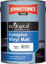 Johnstones Cova Plus  white vinyl emulsion 3 x 10 litres  Tubs £72