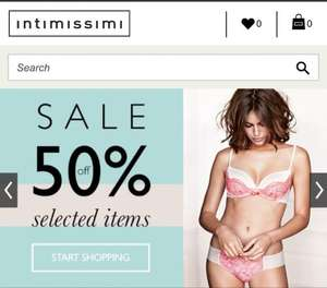 Intimissimi sale is on - 50% off selected lines