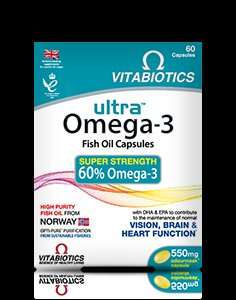 3 Pack of Vitabiotics Ultra Omega-3 Capsules - £5.24 @ Boots Online Only