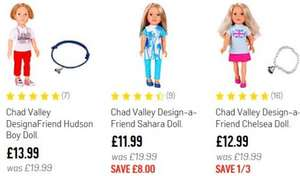 Argos 3 Design-a-friend dolls reduced. £11.99