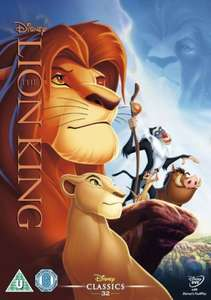 The Lion King  DVD £6.99 (prime) £8.48 (non prime) @ Amazon