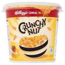 Kellogg's Crunchy Nut Cornflakes Cereal to Go Cup 45g at Asda 25p