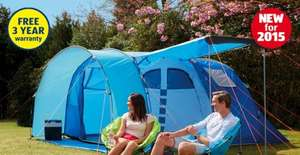 Aldi 5 man tent with three year warranty £79.99 from 25 June