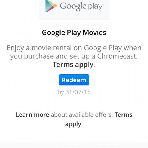 Chromecast free movie rental