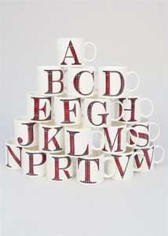 Tartan Alphabet Letter Mug £1 MATALAN