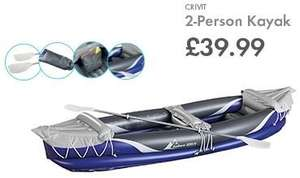 2 Person Kayak - £39.99 - LIDL (Crivit) - 25th June - Ideal purchase for UK Festivals or Summer Holidays