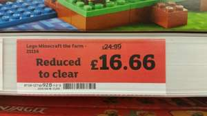 Lego Minecraft The Farm 21114 £16.66 @ Sainsburys