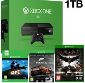 Xbox One Console With 1TB With Forza 5, Ori & The Blind Forest & Batman Arkham Knight £349.99 @ Game