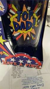 Father's Day Pint Glass, 63p @ Tesco
