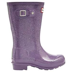 John Lewis - Hunter purple glitter wellies £25 c&c sizes 12 to 4 available