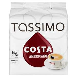 TASSIMO Costa Americano 16 T DISCs (Pack of 5, Total 80 T DISCs/pods) - £15.00  (Prime) / £21.01 (non Prime) @ Amazon