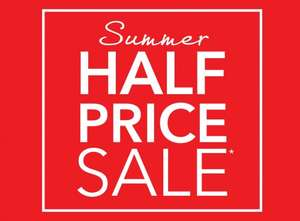 Debenhams Summer Half Price Sale Online from 6am Tomorrow instore from Thursday