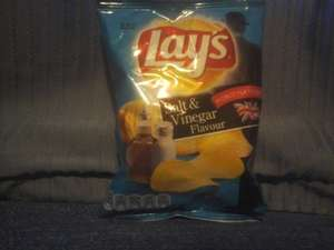 Lay's Salt & Vinegar Crisps 27.5g Bag 10p each @ Home Bargains