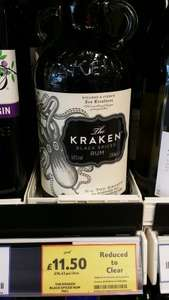 The Kraken black spiced rum 70cl £11.50 @ Tesco in store