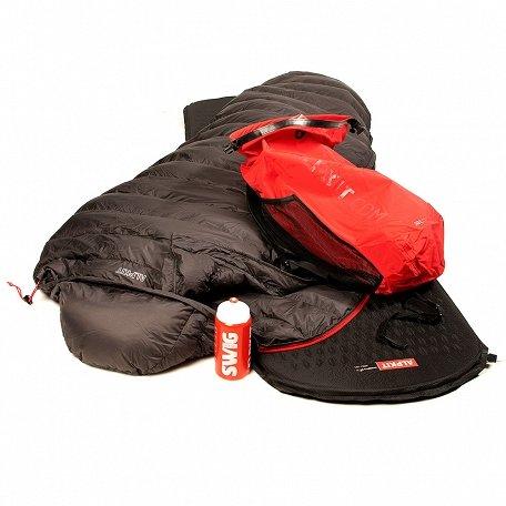 Alpkit Sleeping bag, inflatable mat, waterproof backpack and bottles £128 delivered