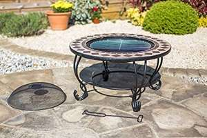 Mosaic Style 76cm Diameter Fire Pit BBQ Table all in one (refurb) £69.99 @ Amazon sold by Oxford Barbecues