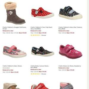 Clarks Kids shoe sale starting from £10 @ john lewis @free click + collect
