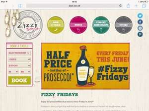 Fizzy Friday's at Zizzi. Half price prosecco!!