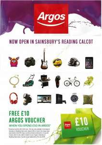 Free Argos £10 voucher if you spend £50 or more instore only - Sainsbury's Store in Calcot