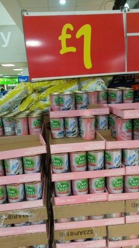 John West Pink Salmon Large tins £1 @ Asda Instore