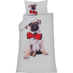 * Cute Pug Dog Multicoloured Bedding Set - Single Now £5.98 Double £7.98 @ Argos (R&C) *