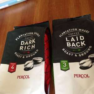 Plantation wharf ground coffee 69p for 150gram bags at home bargains (made by percol)