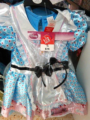 Half Price Alice in Wonderland girls fancy dress £7.50 at  Sainsburys Bridgemeadi Swindon