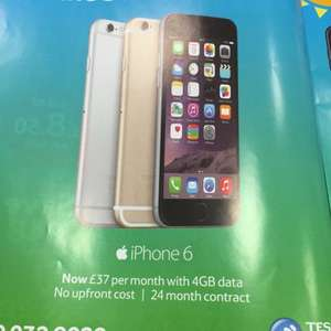 iPhone 6 16GB 4GB Data @ Tesco Mobile now £37/month - Amazing Deal
